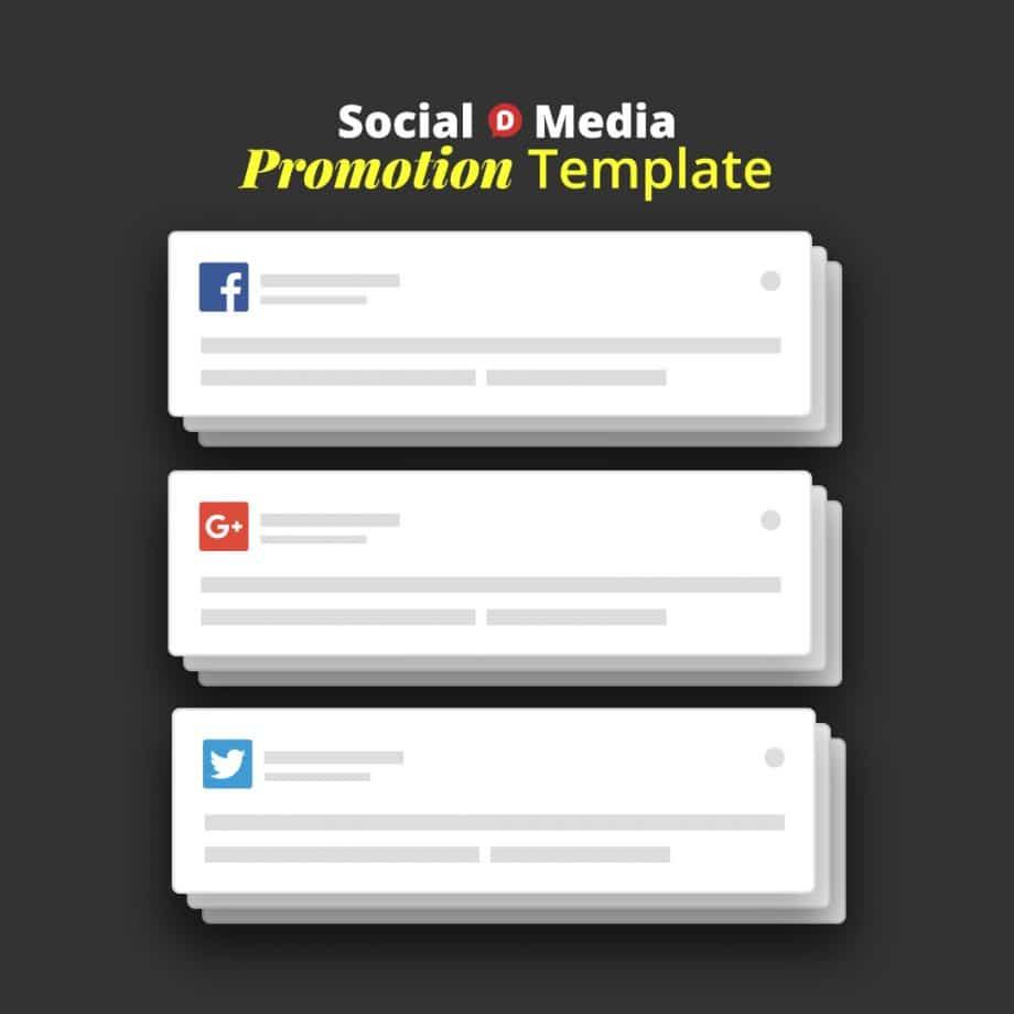 social media blog promotion template