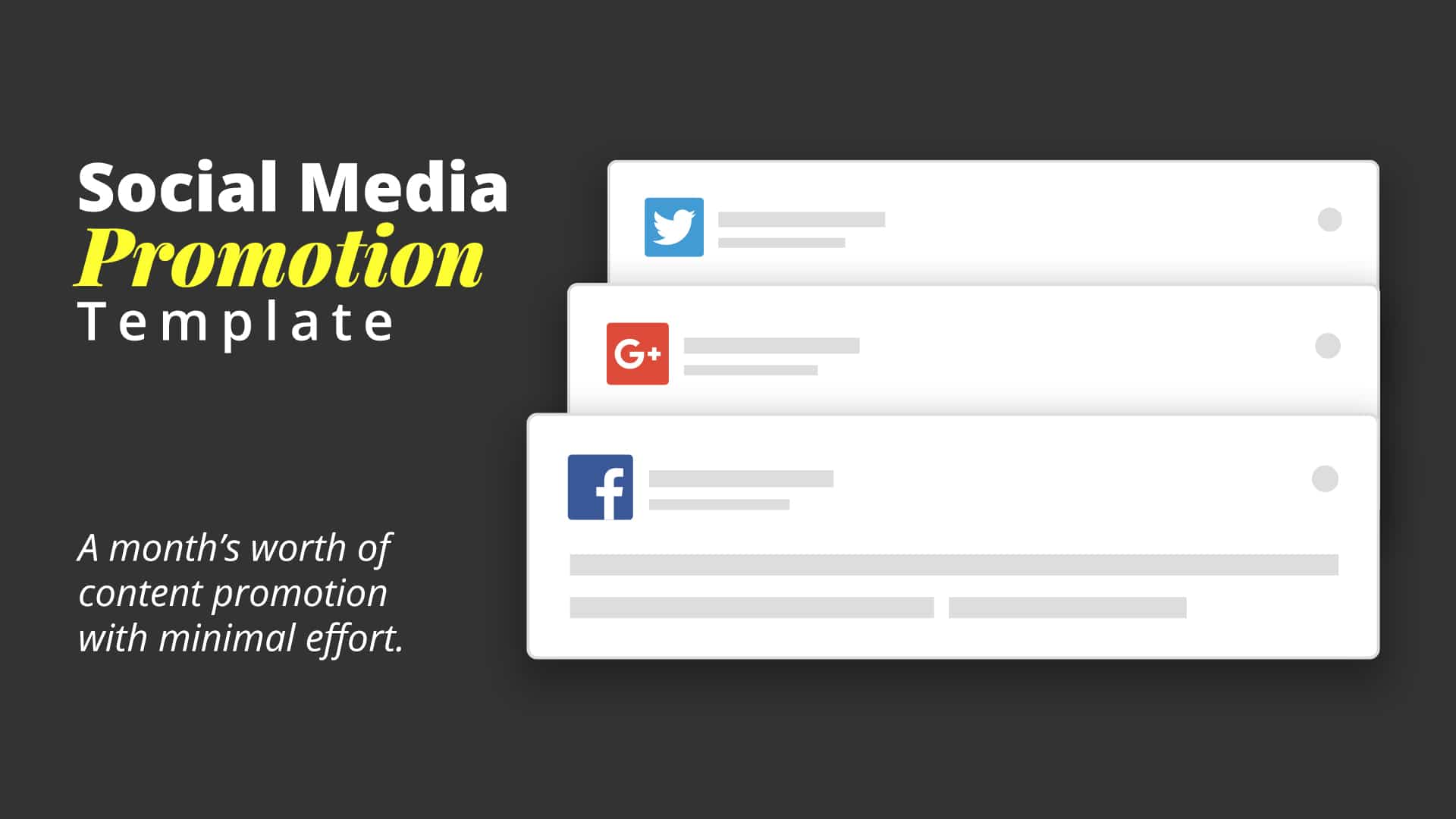 social media promotion templates