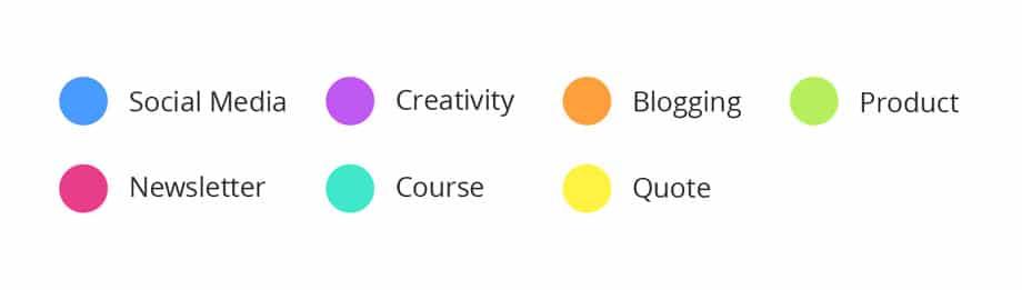 dustinstout.com color coordinating categories
