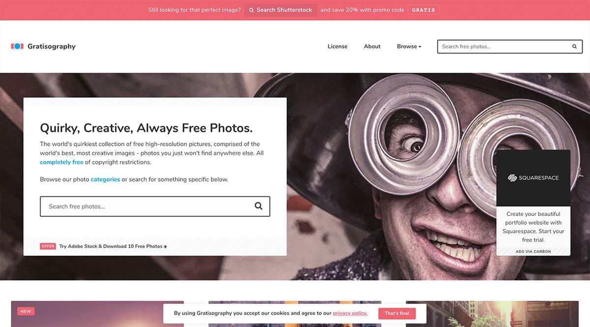 gratisography copyright free images screenshot