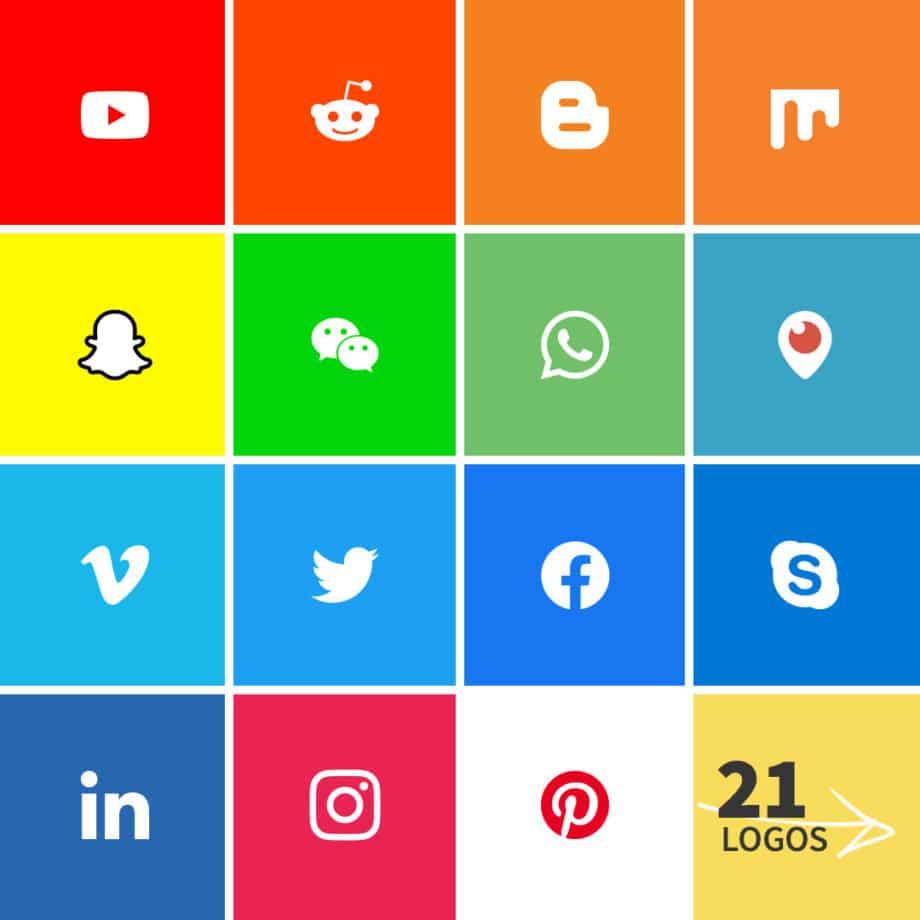 social media logo grid
